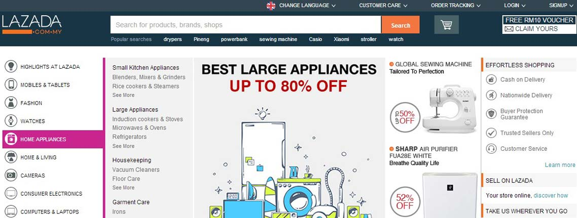 Lazada Voucher Codes & Coupons - Malaysia